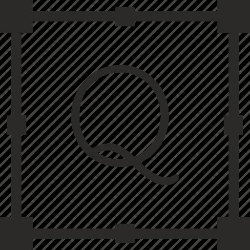 key, keyboard, letter, q, transform icon