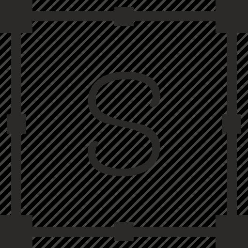 key, keyboard, letter, s, transform icon