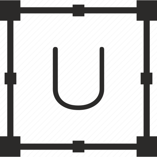 key, keyboard, letter, transform, u icon