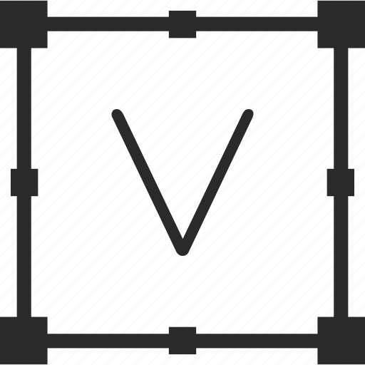 key, keyboard, letter, transform, v icon