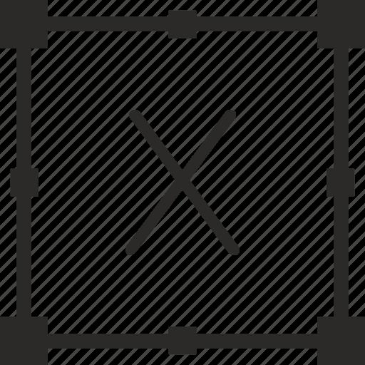 key, keyboard, letter, transform, x icon