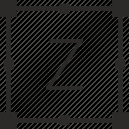 key, keyboard, letter, transform, z icon