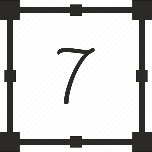 keyboard, number, seven, transform icon