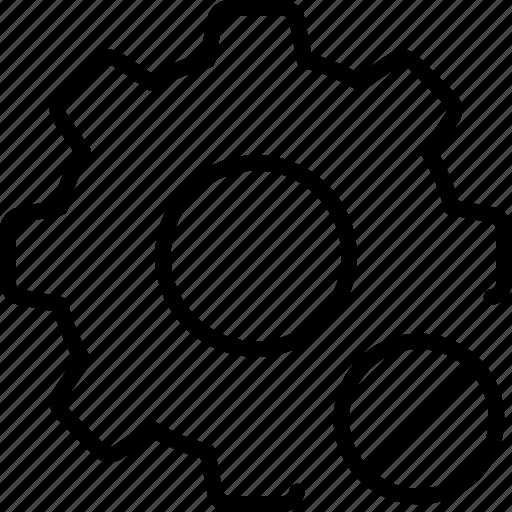 Blocked, cog, mechanic, unavailable, wheel icon - Download on Iconfinder