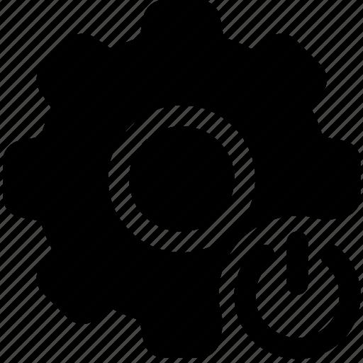 cog, electronic, mechanic, standby, wheel icon