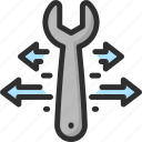 arrow, option, options, parameter, preferences, settings, wrench icon
