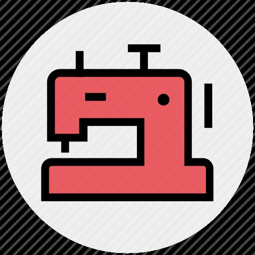 clothing, home, machine, stitching machine, swing, tailor machine icon