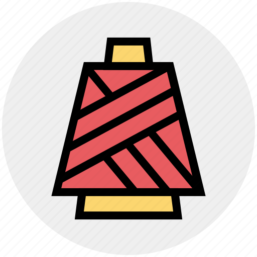 industry, knit, sewing, tailoring, thread, yarn icon