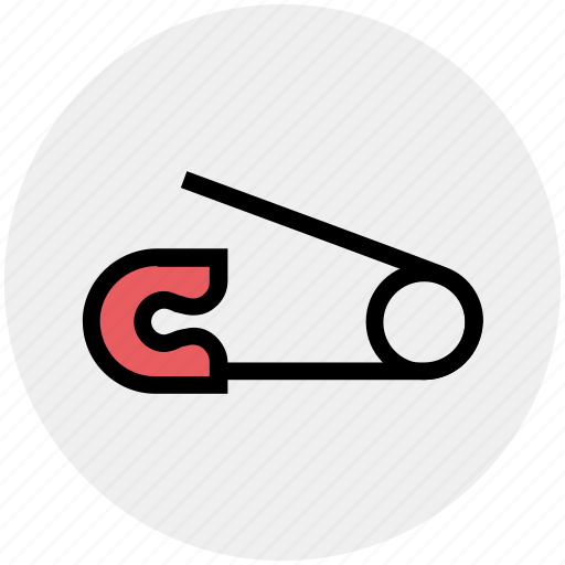 Baby pin, binding pin, clothes, fastener, safety pin icon - Download on Iconfinder