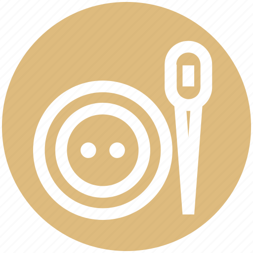 Cloth button, hand make, needle, sew, sewing, tailoring, thread icon - Download on Iconfinder