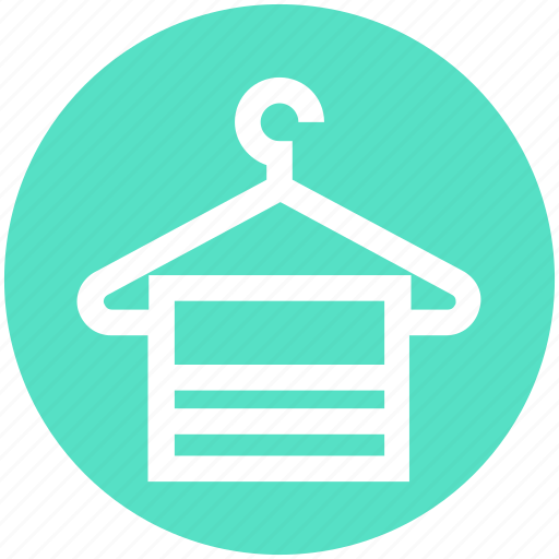 Bathing, clothes hanger, hanger, hanging towel, towel icon - Download on Iconfinder