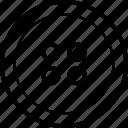 cloth button, round button, sewing, shirt button icon