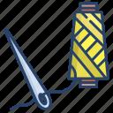 needle, with, thread