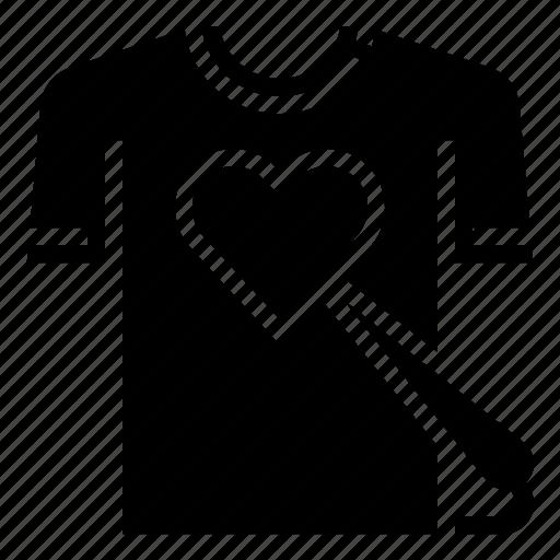 clothing, heart, pin, sewing, shirt, wear icon