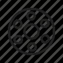 bobbin, color, fashion, machine, metal, sewing, thread icon
