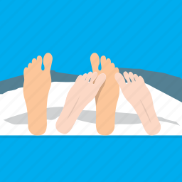 bed, feet, intimate, sleep icon