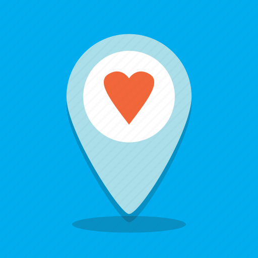 heart, location, love, map, place, sex icon