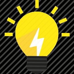 Bright, bulb, creative, energy, idea, lamp, light icon ...  Bright, bulb, c...