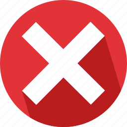 cancel, close, cross, delete, exit, remove, wrong icon