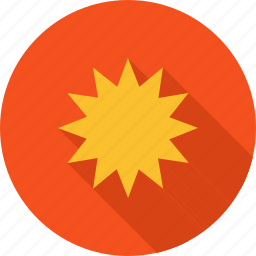 blast, bomb, explosion, fire, light, smoke, yellow icon