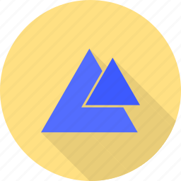 angle, design, geometry, pattern, pyramid, right, triangle icon