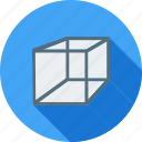 construction, cube, cuboid, design, geometric, mathematics, square icon