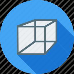 construction, cube, cuboid, design, geometric, mathematics, square icon