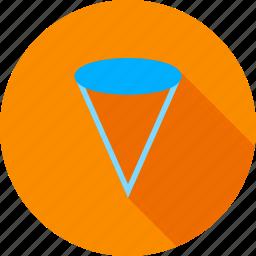 abstract, cone, design, geometric, geometry, graphic, mathematics icon