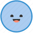 circle, emoji, emoticons, face, happy, shapes, smiley icon