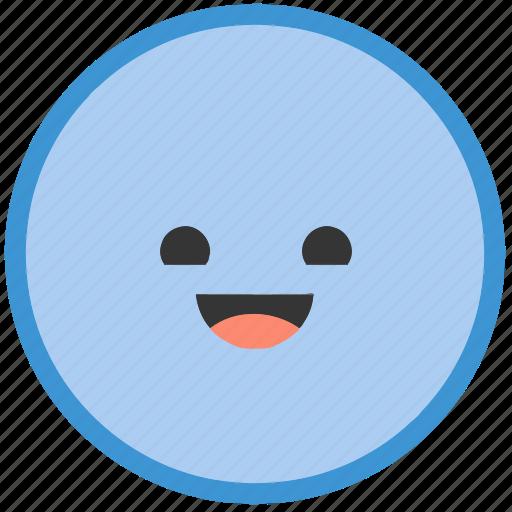 circle, emoji, emoticons, face, happy, shapes, smiley icon