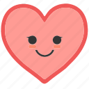 emoji, emoticons, face, heart, shapes, smile, smiley icon