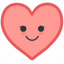 emoji, emoticons, face, heart, shapes, smile, smiley icon