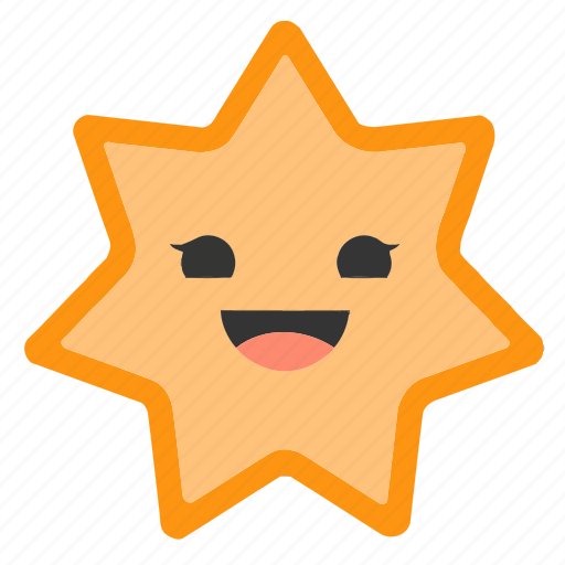 Emoji, emoticons, face, happy, shapes, smiley, star icon - Download on Iconfinder