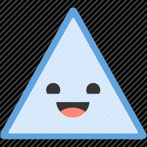 emoji, emoticons, face, happy, shapes, smiley, triangle icon