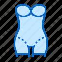 bodysuit, corrective, shapewear, underwear icon