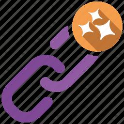 clean, send, share, url icon