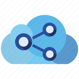 cloud, send, share icon