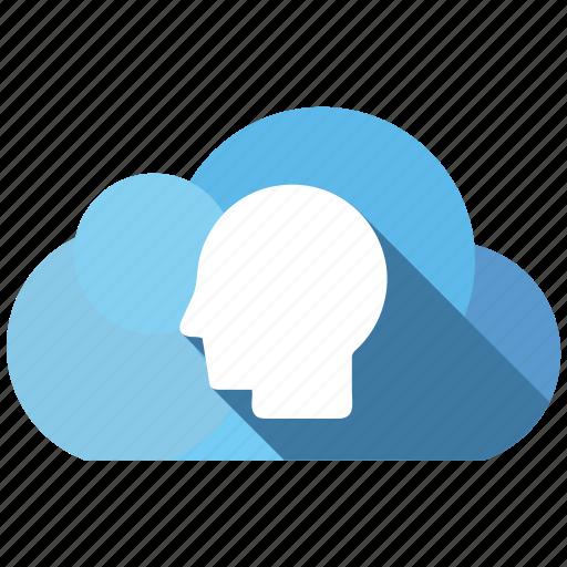 cloud, send, share, user icon