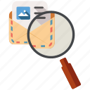 mail, search, send, share icon