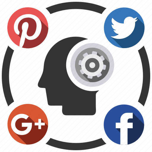 brain, media, send, share, social icon