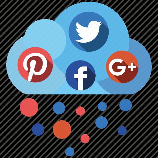 cloud, media, send, share, social icon