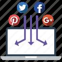 management, media, send, share, social icon