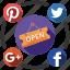media, open, send, share, social icon