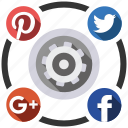 media, send, settings, share, social icon