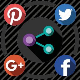 media, send, share, social icon