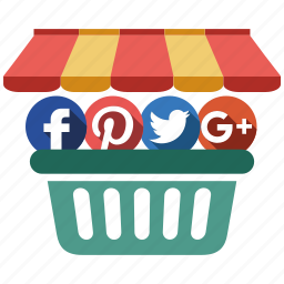 media, send, share, shop, social icon