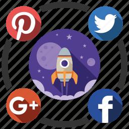 media, send, share, social, startup icon