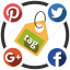 media, send, share, social, tag icon