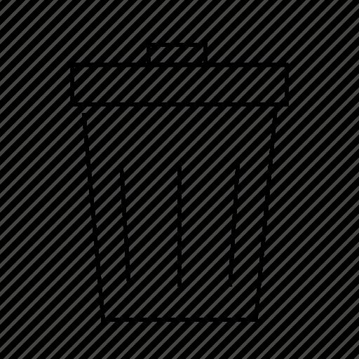 bin, can, delete, erase, garbage, trash icon