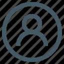 account, avatar, default icon
